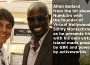 Numb3rs Star Alimi Ballard with Samy Montechristo