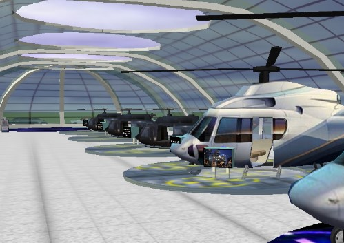 Heliport in Virtual 3D Hollywood