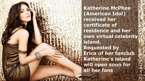 Katherine McPhee gets her own virtual 3d island